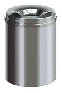 Feuerlöschender Papierkorb Edelstahl 15 Liter