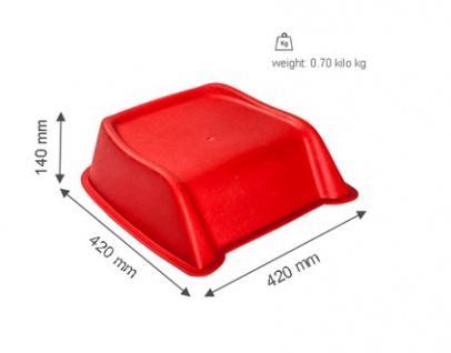 SET 36 Stk. Kunststoff PVC stabile Cinema Seat Sitzerhöhungen für Kinder in rot - Vorschau 4