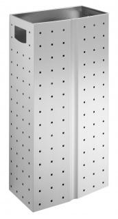 Wagner-EWAR Abfallbehälter 32l gelocht L 184 Edelstahl matt für Aufputzmontage