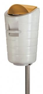 Feuerfester Abfallbehälter 50 Liter mit farbig Deckel