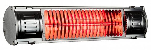 Infralogic HeizMeister Infrarot-Gerät 1000 Watt zur Wandmontage aus Aluminium