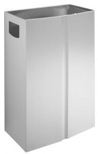 Wagner-EWAR Abfallbehälter 24l ungelocht L187 Edelstahl für Aufputzmontage