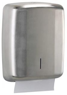 Rossignol Lensea Papierhandtuchspender 400 Blatt aus Edelstahl mit Sichtfenster