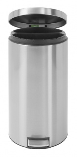 Tritt-Mülleimer Twin Bin 2x20 Liter, Brabantia Edelstahl gebürstet Fpp