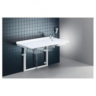 Pressalit Wickeltisch mit Waschbecken, Armatur, Handbrause, Zu- und Ablaufsystem