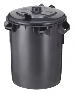 Kunststoff Mülleimer 70 Liter Dunkel Grau