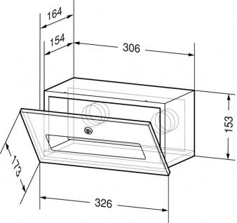 Wagner-EWAR Handtuchspender 326x173x164 WP165 Edelstahl für Untertischmontage - Vorschau 2