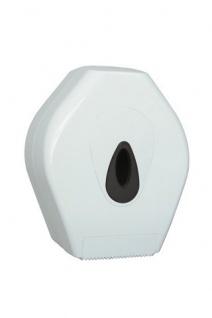 PlastiQline Mini Großrollenhalter aus weißem Kunststoff zur Wandmontage