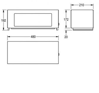 Franke Klappdeckelaufsatz RODX608 für den Abfalleimer RODX607 - Vorschau 3