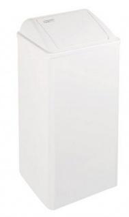 Mediclinics Feuerfester Abfallbehälter mit Einwurfklappe, 80 Liter