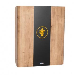 Wandwickeltisch aus Holz in der Farbe Eiche mit Mittelteil aus Metall KAWAmaxi von Timkid