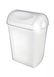 PlastiQline Abfallbehälter aus Kunststoff mit Schwingdeckel zur Wandmontage oder Freistehend