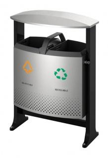 Abfallbehälter für draußen Abfalltrennung 2x 39 78 liter