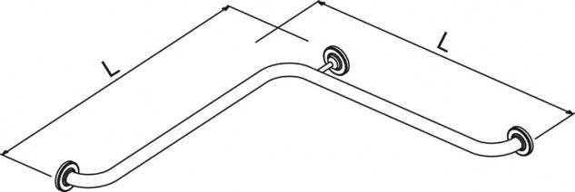 Wagner-EWAR Duschumlaufgriff BF 650 Edelstahl strukturiert - Vorschau 2