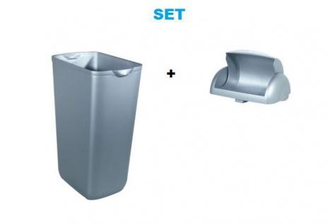 Set Marplast Mülleimer 23L Satin MP 742 - mit Klappdeckel für Damenhygiene - Vorschau 1