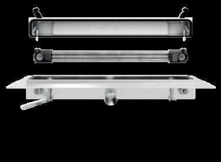 Franke Joulia-Inline JOBF3R Duschrinne mit Wärmetauscher zur raumseitige Montage