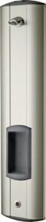 Franke Duschpaneel aus Edelstahl für Aufputzmontage für Batterie- oder Netzbetrieb