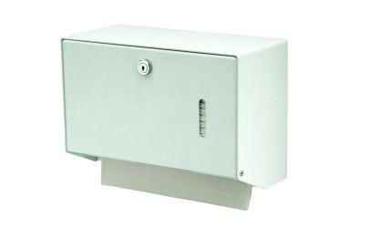 MediQo-line Kleiner abschließbarer Papierhandtuchspender zur Wandmontage aus Aluminium oder Edelstahl - Vorschau 2