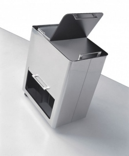 Graepel High Tech italienischer Mülleimer Differenziata New aus Edelstahl