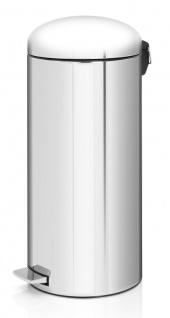 Tritt-Mülleimer Retro 30 Liter, Brabantia Edelstahl