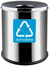 Alda Prestige Eko Behälter aus Edelstahl für Altbatterien, 7 Liter