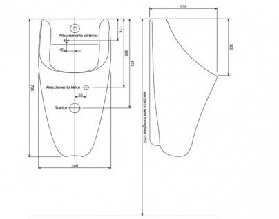 Fumagalli Urinal mit elektronischem Spülsystem - schwarz - Photozelle - Keramik - Vorschau 2