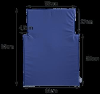 Wickeltisch-Auflage Kawapro in blau oder weiß Timkid