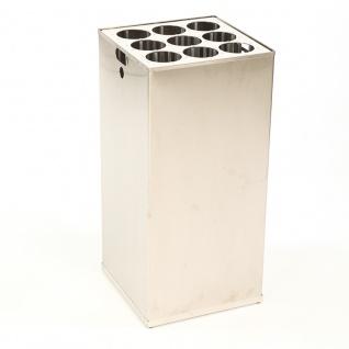 Inneneinsatz und Bechersammler für Carro 110 Liter. Aluminium