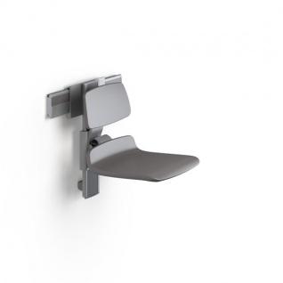 Pressalit Duschsitz in Weiß oder Anthrazitgrau mit manuell verstellbarer Höhe