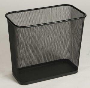 RUBBERMAID Concept Collection Abfalleimer Rechteckig 28, 4 L, Farbe Schwarz