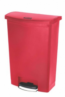 RUBBERMAID Slim Jim® Kunststoff-Tretabfallbehälter mit Pedal an der Breitseite 90 L - Vorschau 4
