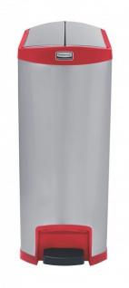 RUBBERMAID Slim Jim® Metall-Tretabfallbehälter mit Pedal an der Schmalseite 90 L