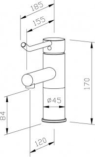 Wagner-EWAR Waschtischarmatur langer Bedienhebel ND WA 200-1 Edelstahl - Vorschau 2