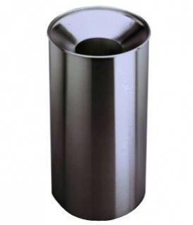 Bobrick großvolumiger Abfallbehälter B-2400 mit Abfalltrichter aus Edelstahl 125L