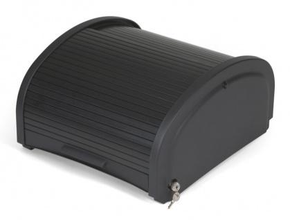 Rubbermaid Sicherheitsfach in Schwarz mit Rolladenverschluss