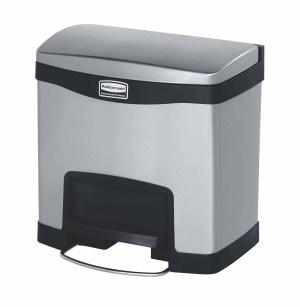 RUBBERMAID Slim Jim® Metall-Tretabfallbehälter mit Pedal an der Breitseite 15 L - Vorschau 2