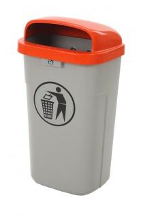 Feuerfester Abfallbehälter 50 Liter für Draußen
