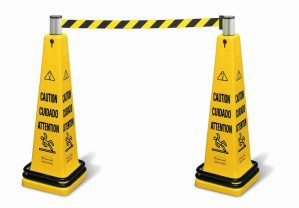 RUBBERMAID Tragbares Absperrsystem ?Caution? (Rutschgefahr) Gelb