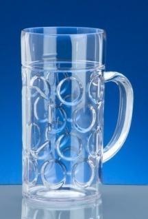 SET 30 St. Kunststoff Maß Krug 1l SAN Glasklar Spülmaschinen fest, lebensmittelecht - Vorschau 2
