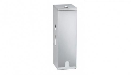 Drei - Rollen Edelstahl Toilettenpapierspender zur Aufputzmontage B-27313