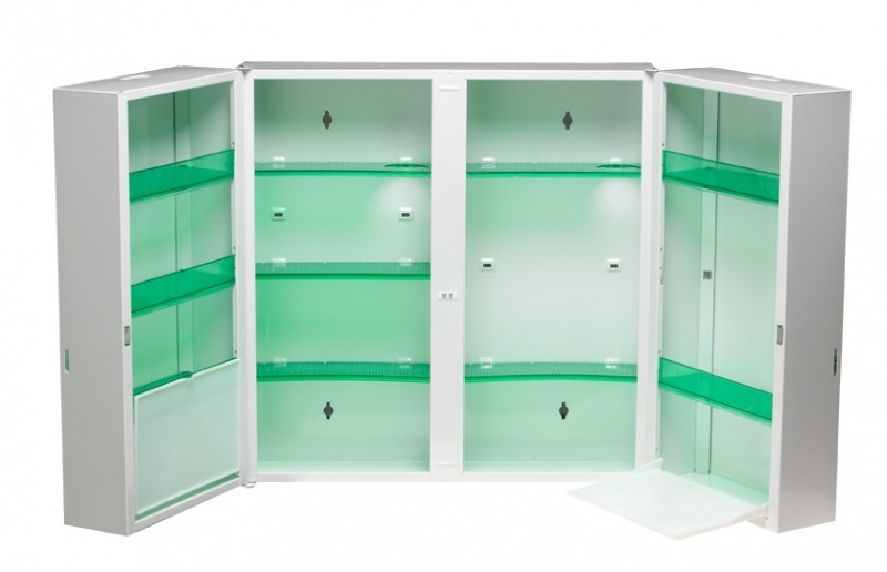 rossignol clinix medizinschrank mit 2 t ren und. Black Bedroom Furniture Sets. Home Design Ideas