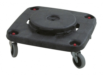 Brute Dolly Viereck, Rubbermaid Schwarz