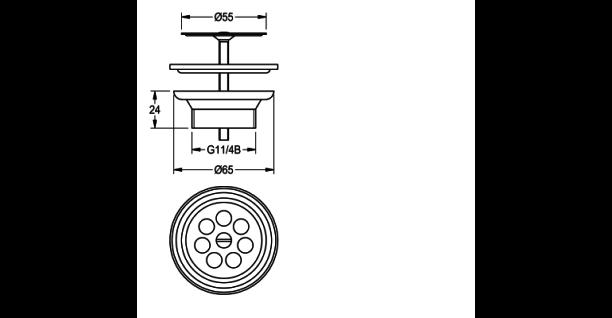Franke EXOS. Siebablaufventil DN 32 ZANMW901 für das Handwaschbecken ANMW0003 - Vorschau 3