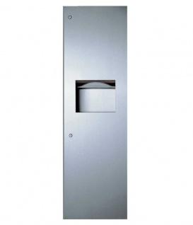 Bobrick B-39003 Edelstahl Papierhandtuchspender und Abfallbehälter für Wandeinbau