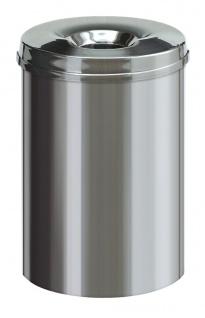 Feuerlöschender Papierkorb Edelstahl 30 Liter