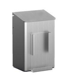 MediQo-line Hygiene Abfallbehälter 6 Liter zur Wandmontage aus Aluminium oder Edelstahl - Vorschau 1