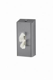MediQo-line Taschentuchspender aus Edelstahl abschließbar und zur Wandmontage