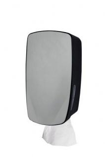 PlastiQline Exclusive Mini Papierhandtuchspender zur Wandmontage aus schwarzem Edelstahl