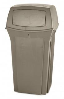RUBBERMAID Ranger® Abfallbehälter mit Oberteil mit 2 Einwurfklappen 132, 5 l - Vorschau