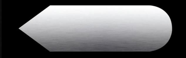 """Proox® ONE pure PU-817 Edelstahl Piktogramm """" Pfeil"""" für Tür selbstklebend"""